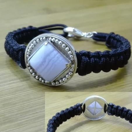 Barcelet calcédoine et argent