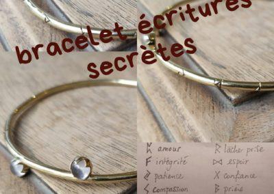 Bracelet runes quartz rose