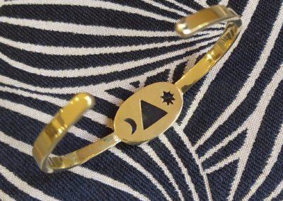 Bracelet labradorite et laiton devant
