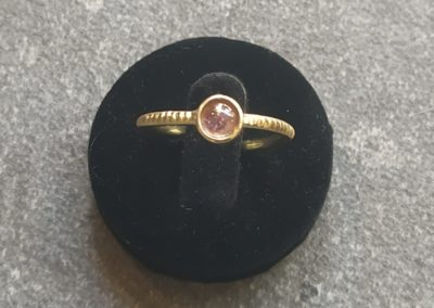 Bague primitive tourmaline rose