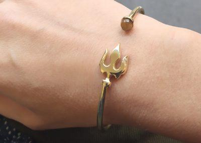 Bracelet Jiva oeil de tigre porté